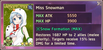 Miss Snowman Exchange Box