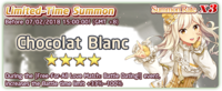 Chocolat Blanc Summon Banner