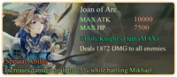 Joan of Arc Special Ability Daemon Banner