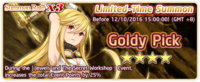 Goldy Pick Summon Banner
