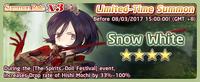 Snow White Summon Banner