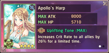 Apollo's Harp Exchange Box