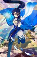 Okita Soji Blue Wallpaper