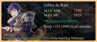 Gilles de Rais Special Ability Daemon Banner