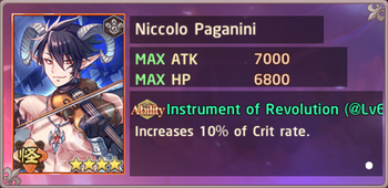 Niccolo Paganini Exchange Preview