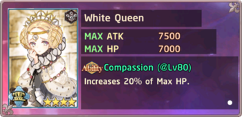 White Queen Exchange Box