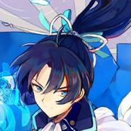 Okita Soji Blue Icon Artwork