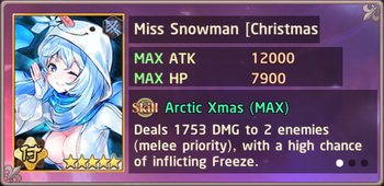 Miss Snowman Christmas II Exchange Box