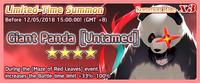 Giant Panda Untamed Summon Banner