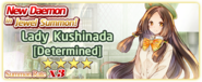 Lady Kushinada Determined Summon Banner