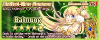 Balmung Summon Banner