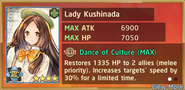 Lady Kushinada Determined Summon Preview
