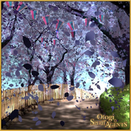 Black Cherry Blossom and Demon Blade Event Background