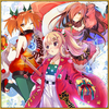 "Restless Ghost Christmas II Santa Claus the Third Aka ""Red"" Chochin Christmas II Square"