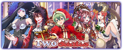 Two Santas Banner