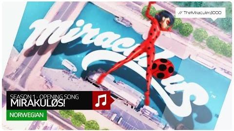 Ladybug & Cat Noir på eventyr - Miraculous! (Official Opening Song) Norwegian