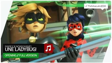 Miraculous - Marily & Noam Kaniel - Une Ladybug! (Full opening song) French