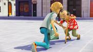 Adrien ayudando al Maestro Fu
