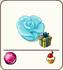 Blue marzipan rose