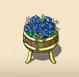 Blue Flower Barrel