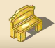 Garden Bench (Gold)