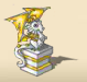 Dragon Statue (Gold Stone)