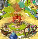 Fire village tree
