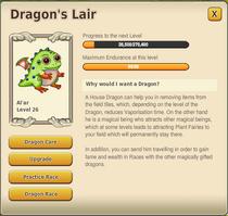 Dragon's Lair menu