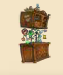 Grand Chest of Drawers with tasteful Wall Cupboard