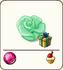 Green marzipan rose