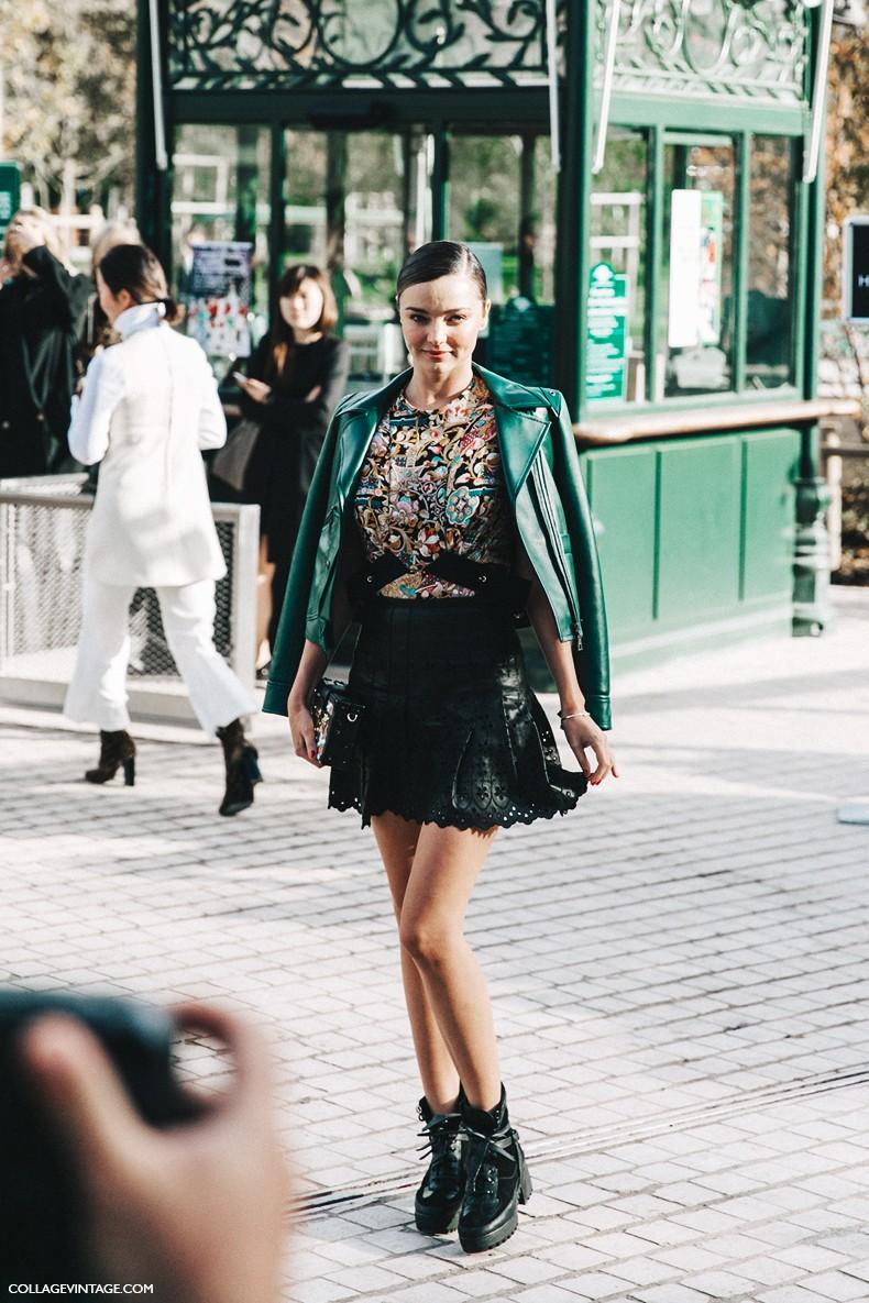 Image Pfw Paris Fashion Week Spring Summer 2016 Street Style Say Cheese Miranda Kerr Louis