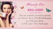 Royal Albert Twitter Tea with Miranda Kerr