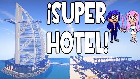 SUPER HOTEL EN MINECRAFT - BURJ AL ARAB (DUBAI) Y GANADOR DEL ESPECIAL 100.000 SUSCRIPTORES