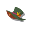 Brown Cat Silk Hat(Green)