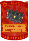 Double Black Knight Ring