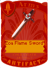 Zoa Flame Sword