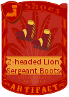 2-headed Lion Sergeant Boots