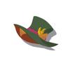 Light Brown Cat Silk Hat(Green)