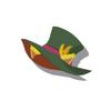 Yellow Cat Silk Hat(Green)