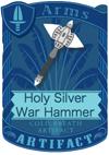 Holy Silver War Hammer