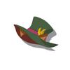 Dark Brown Cat Silk Hat(Green)