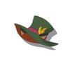 Black Cat Silk Hat(Green)