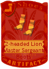 2-headed Lion Master Sergeant Boots