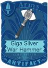 Giga Silver War Hammer
