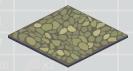 Cobblestone gargoyle flooring