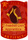 2-Headed Lion Apprentice Cape