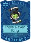 Triple Raven Ring