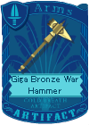 Giga Bronze War Hammer