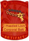 2-Headed Lion Corporal Belt