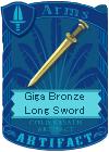 Giga Bronze Long Sword